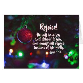 Luke 1:14 Rejoice! He will be a joy, Christmas カード