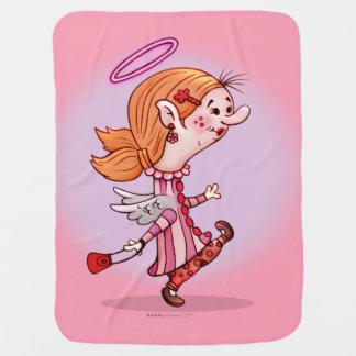 LULUの天使の漫画のベビーブランケット ベビー ブランケット
