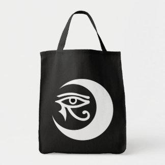 LunaSeesのロゴのバッグ(暗いバッグの白いですか黒い瞳) トートバッグ