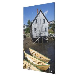 Lunenburg、ノバスコシア、カナダ、小舟の建築者 キャンバスプリント