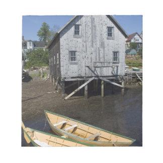 Lunenburg、ノバスコシア、カナダ、小舟の建築者 ノートパッド