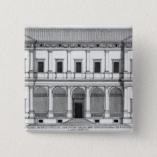 LungaraのPalazzo Chigi、「Palazziからのローマ、 5.1cm 正方形バッジ