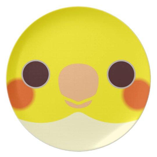 LutinoのCockatiel 皿