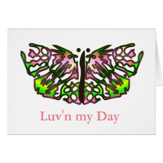 Luv'n私の日-断言の挨拶状 カード