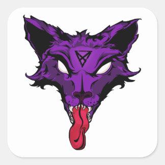 LuxamDCのオオカミまたはキツネのロゴ スクエアシール