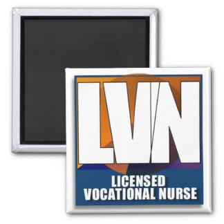 LVNによって認可される職業ナースのロゴ マグネット