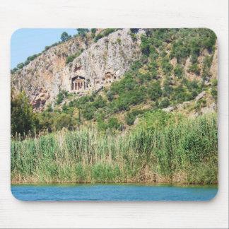 Lycianの石の墓、Dalyan、トルコ マウスパッド