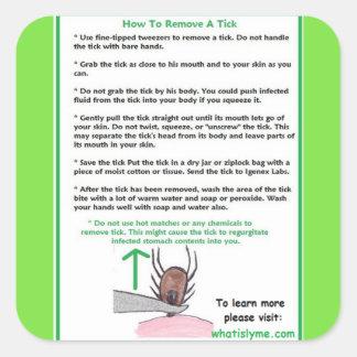 Lymeのためのカチカチの説明書を取除く方法 スクエアシール
