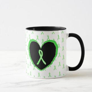 Lymeのリボンが付いているライム病の認識度のコーヒー・マグ マグカップ