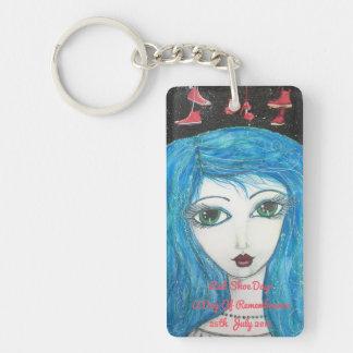 Lymeの患者、赤い靴日、芸術Keychain キーホルダー