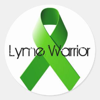 Lymeの戦士のステッカー ラウンドシール