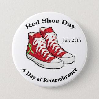 Lymeの認識度のための赤い靴日ボタン 缶バッジ