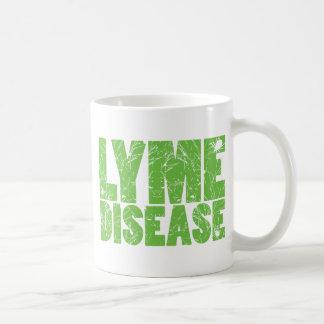 """Lymeはカチカチとの""""ライム病""""のデザインを緑化します コーヒーマグカップ"""