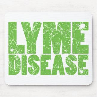 """Lymeはカチカチとの""""ライム病""""のデザインを緑化します マウスパッド"""