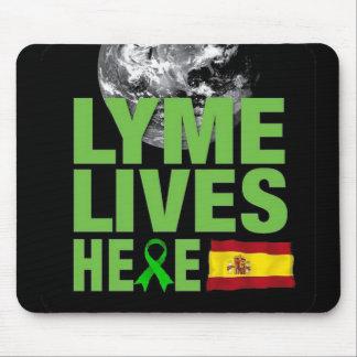 Lymeはスペインのマウスパッドにここに住んでいます マウスパッド
