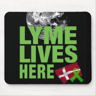 Lymeはデンマークのマウスパッドにここに住んでいます マウスパッド
