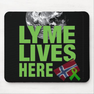 Lymeはノルウェーのマウスパッドにここに住んでいます マウスパッド