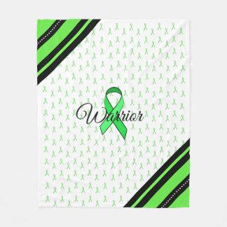 Lyme Disease Awareness Ribbons Blanket フリースブランケット
