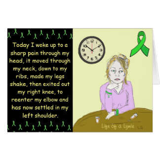 Lymieライム病の病気の女性のCartoon生命 カード