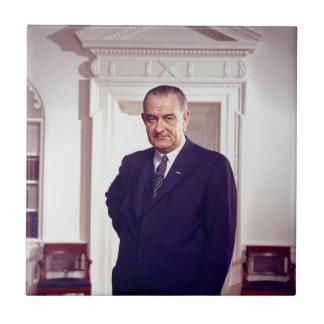Lyndon Johnson 正方形タイル小