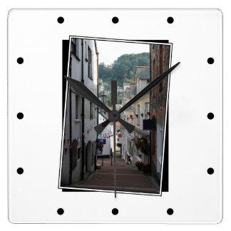 Lynton、デボン、イギリス スクエア壁時計