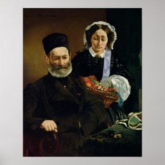 Mおよび夫人Auguste ManetのManet |のポートレート ポスター
