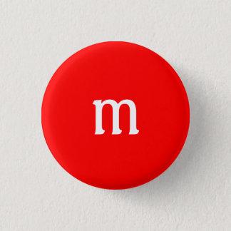 Mのモノグラムボタン 3.2CM 丸型バッジ