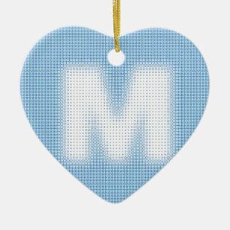 Mのモノグラム セラミックオーナメント