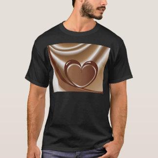 mの背景のテープからのチョコレートハート tシャツ