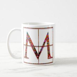 """Mの""""ケルト族の煉瓦""""カスタムなモノグラムのマグ コーヒーマグカップ"""