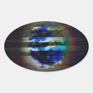 M00n 楕円形シール