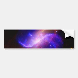M106渦状銀河の放出NASA バンパーステッカー