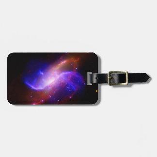 M106渦状銀河の放出NASA ラゲッジタグ