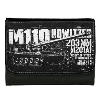 M110曲射砲の中型の革財布