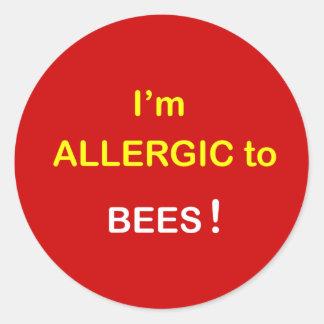 m1 -私はアレルギー-蜂です ラウンドシール