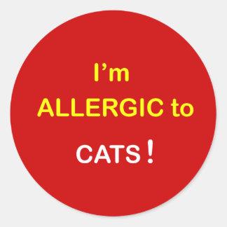 M2 -私はアレルギー-猫です ラウンドシール