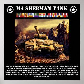 M4シャーマンタンクプリント ポスター