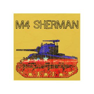 M4シャーマンタンク ウッドウォールアート