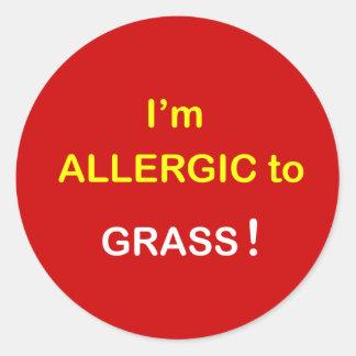 m4 -私はアレルギー-草です ラウンドシール