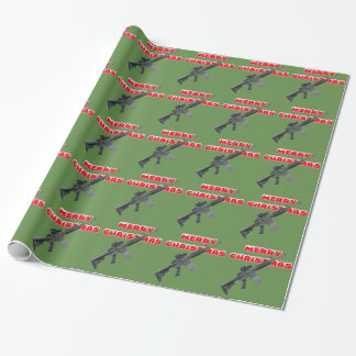 M4 Guns, Merry Christmas Wrapping Paper ラッピングペーパー