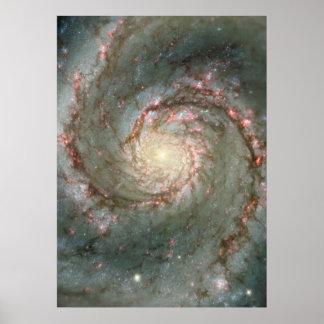 M51巨大なポスター-渦の渦状銀河 ポスター