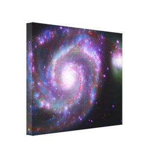 M51渦の銀河系: クラシックな美しい キャンバスプリント