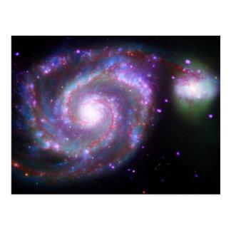M51渦の銀河系: クラシックな美しい ポストカード