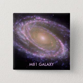 M81銀河系 5.1CM 正方形バッジ