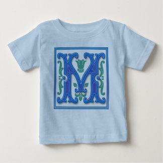 M -ヴィンテージの手紙M ベビーTシャツ