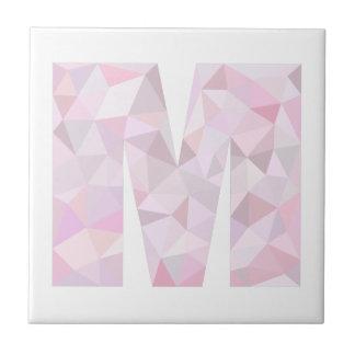 M -低い多三角形-中立ピンクの紫色の灰色 タイル