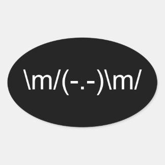 \ m/角の\ m/ 楕円形シール