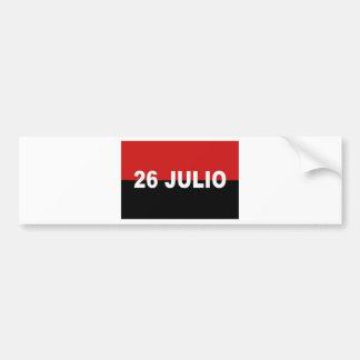 M-26-7旗- Bandera del Movimiento 26 deフリオ バンパーステッカー