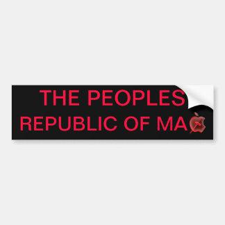 M A.C.の人民共和国 バンパーステッカー