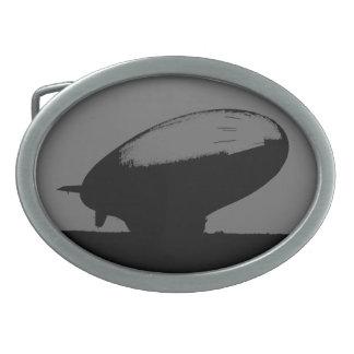 M_class_blimp_Blimptiniteの黒のラベルの軟式小型飛行船のバックル 卵形バックル
